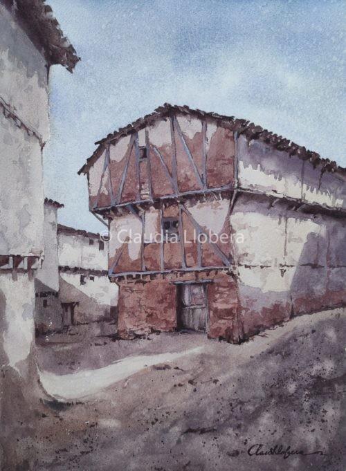 Una casa antiga al poble de Retuerta